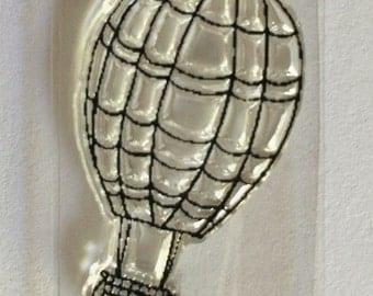 Stocking Stuffer, Bitty balloon stamp, hot air balloon stamp, acrylic stamp, balloon stamp