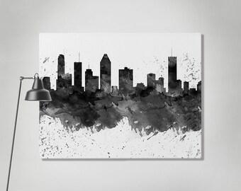 Paris Canvas Print Paris Watercolor Skyline Canvas Art