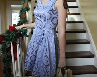 Women's purple dress, Paisley dress, Mini dress, Open back dress,  purple paisley print dress