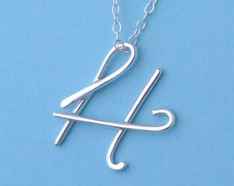 Letter H Necklace, Letter H Pendant, H Initial Necklace, H Initial Pendant, Initial H Necklace, Silver H Necklace, Initial Jewellery