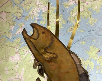 Artist Signed / Handmade Trout / Salmon / Fish Brass and Copper Welded Art / Each Handmade Piece is One of a Kind!