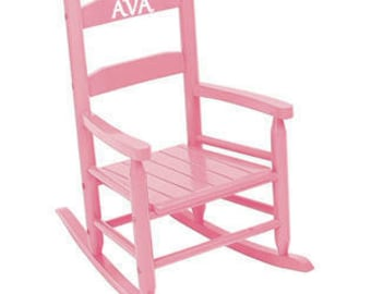 Toddler Rocking Chair / Customized Kids / Chair for kids / Name on Chair/ Choose Color and Personalized Name