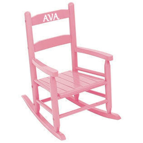 ... Kids / Toddler Rocking Chair / Choose Color and Personalized Name