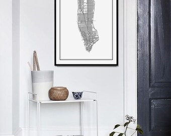 New York Map, New York Print, Manhattan Map, NYC, New York Poster, New York, NY Map Print, Manhattan, City Map Print, NYC Map, New York Art