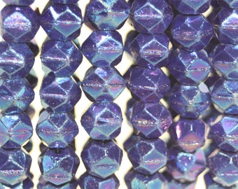 Czech Glass English Cut Beads, 15 Beads, 10mm