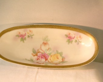 1900s Celery China Dish Made By Johann Seltmann Of Vohenstrauss Bavaria//Vintage China