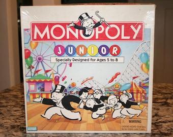 1995 Monopoly Junior Board Game//Parker Brothers//Vintage Children's Game