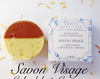 SOAP facial Calendula & turmeric / / Facial Soap Calandula and turmeric / / Lavender / / Lavender / / Organic Vegan Soap / / soft Exfoliating