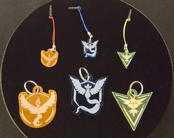 Pokémon GO Team Logo Keychains & Charms