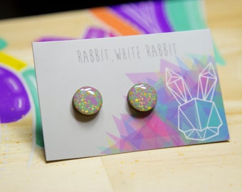 13mm Hand Painted Speckled Studs