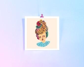 Art Print – Floral Headdress