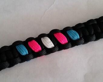 Trans* Pride Band // Paracord Bracelet