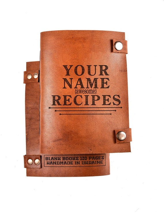 Custom recipe book with your name - personalized cook book - notebook recipes - recipe notebook - Christmas gift for her - cook book