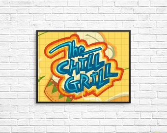 The Chill Grill Art Print / That's So Raven Illustration