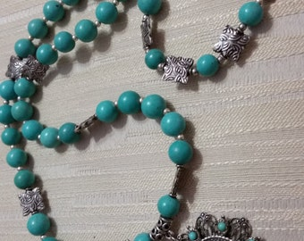Turquoise 3 piece set jewelry