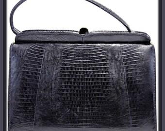 Vintage Life Stride Faux Alligator Handbag,Vintage Handbag,Vintage Life Stride,Vintage Alligator,Vintage Vinyl Handbag,Vintage Vinyl Purse
