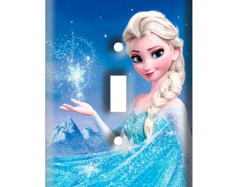 Elsa Frozen - Decorative Light Switch Cover - Single Toggle Switch Plate