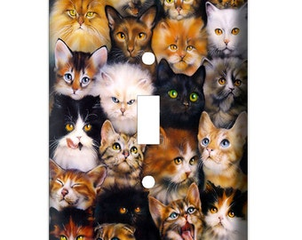 Cat Lover Decorative Light Switch Cover - Decorative Switch Plate Cover