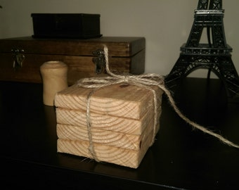 Chunky Rustic Coasters - Set of Four