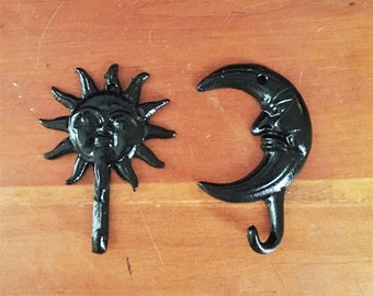 Sun and Moon Hook Set, Coat Hanger
