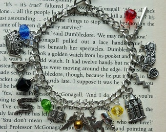 Harry Potter Deathly Hallows Charm Bracelet