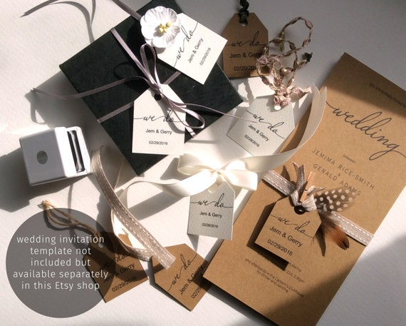 Wedding Favor Tag Template - Favor Bag Tag - Small Tags For Favor Bags ...