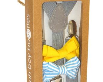Mr Jackson - Adjustable Baby / Toddler Suspenders and Bowtie Set