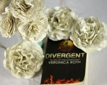 CUSTOM MADE Divergent Flower Bouquet Using A Second Hand Novel - Single Flower or 6 or 12 Flower Bouquet