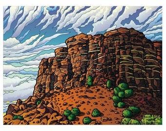 Wonderful landscape of Albuquerque Desert in your home!