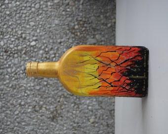 """Bottle vase """"Abstraction nr. 1"""""""