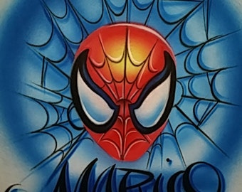Airbrushed Comic Character