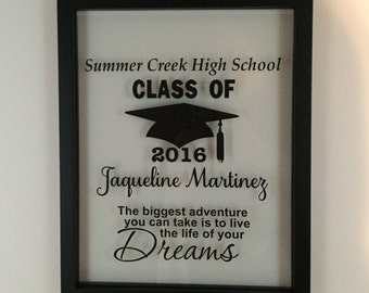 Personalized Picture Frame, Graduation, Graduation Gift, High School,  High School Graduation Gift, High School Graduation, Gift