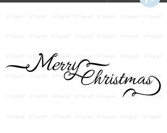 Merry Christmas Clipart, Merry Christmas Handwriting, Merry Christmas Script, Merry Christmas Calligraphy, Christmas Text,Red Typography