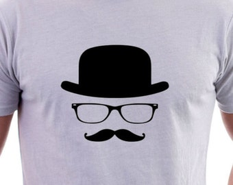 T-shirt with Bowler hat Logo