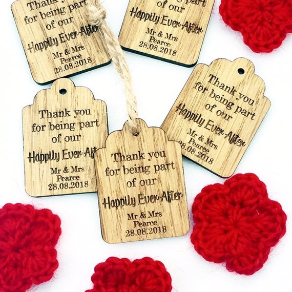 Wedding Favour Tags, With Love Wedding Favor Tags, Thank You Wedding ...