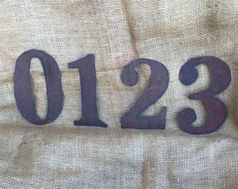 "6"" rusty tin numbers, Flat rusty numbers, 6"" tin numbers, Flat rusty tin numbers, numbers 0-9, tin numbers, handmade tin numbers, numbers"