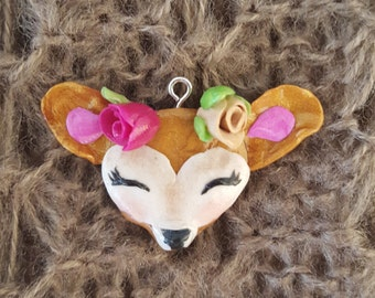 Oh Deer! Polymer Clay Fawn Charm