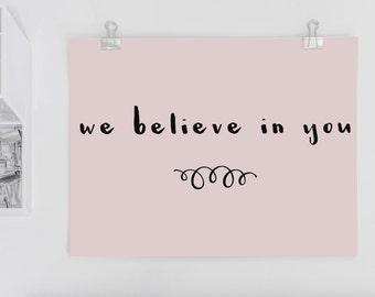 Heartfelt Postcard 'We Believe In You'