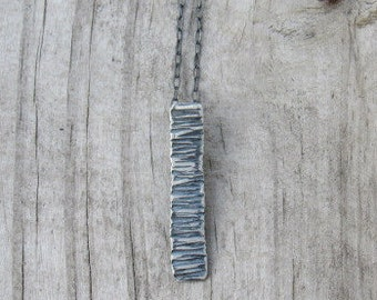 Sterling Tree Textured Necklace