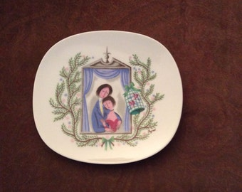 Peynet plate, The Lovers plate by Peynet for Rosenthal, Rosenthal plate