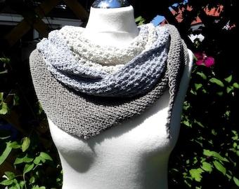 Shawl knitted scarf cloth scarf cotton Kit BlauGrau taupe