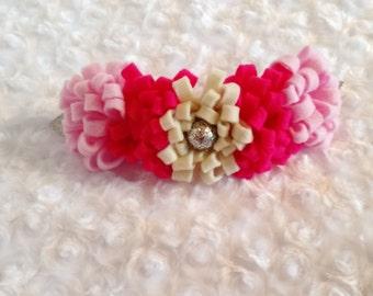 Pink Floppy Flower Crown