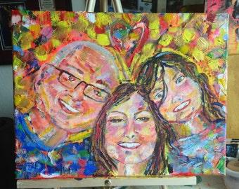 Custom Acrylic Portrait Aura Painting