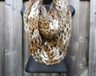 Creme Brulee Infinity Scarf
