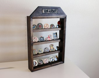 Challenge Coin Display, Military Coin Display, Military Coin Rack, Nametape Holder, Wall Hanging, Desk Display, Coin Holder, Army Gift