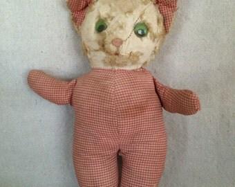 Vintage Stuffed Cat