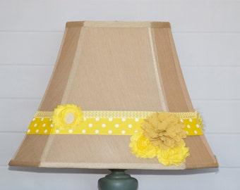 Yellow Flowered Lampshade