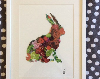 Array Collage Art - Rabbit flower