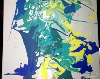 "Drip Painting by Benjamin Marcus - ""Neptune"""