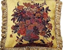 Aubusson Vase Tapestry Pillow